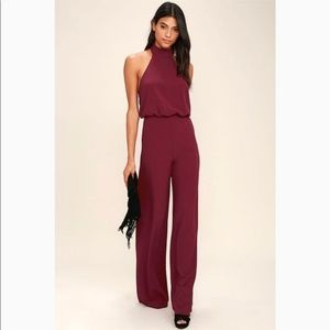 NEW LULUS MOMENT FOR LIFE HALTER JUMPSUIT